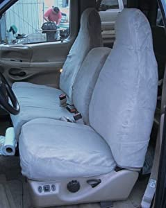 Exact Seat Covers, F220 X7, 1997-1999 Ford F150 High Back 40/60 Split Seat Custom Exact Fit Seat Covers, Gray Twill
