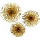 Two's Company Gold Starburst Decorative Accents, Set of 3