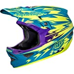 Troy Lee Designs Thunder D3 Composite Bike Racing BMX Helmet - Turquoise/Yellow / Large