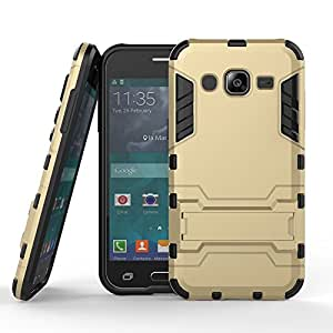 Kapa Defender-II Dual Layer Shockproof Stand Bumper Back Case Cover for Samsung Galaxy J2 - Gold