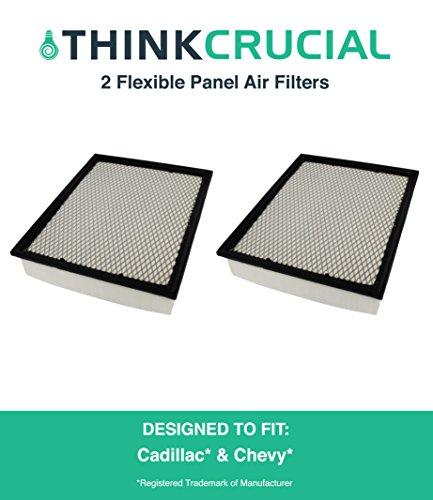 2 Premium Extra Guard Flexible Panel Air Filter, Part # A45315 & # CA8755A, Fits Acura TSX, Honda Accord, Maximum Air Flow, 1.57 x 5.92 x 13.5 in., by Think Crucial