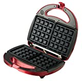 Continental Electric Metallic Red Waffle Maker