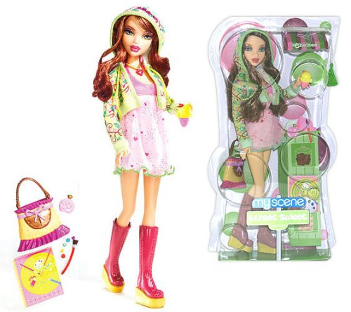 """Barbie 2007 My Scene Sweet Street New York 12 Inch Doll - Chelsea With Purse, Hairbrush, Ice-Cream With Cone Plus """"Painting Accessories"""" front-981947"""