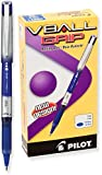 Pilot VBall Grip Liquid Ink Rolling Ball Pens, Fine Point, Blue Ink, Dozen Box (35571)