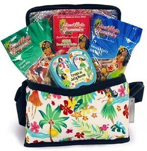 Hawaiian Gift Basket Island Food Snack Cooler Set Sweet And Spicy Nut Mix Island Fruit Mix Tropical Jelly Beans Guava Cookies from IH