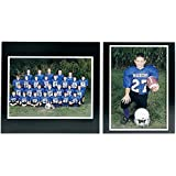 Player/Team 7x5/5x7 MEMORY MATES Black cardstock double photo frame / white border sold in 10's - 5x7