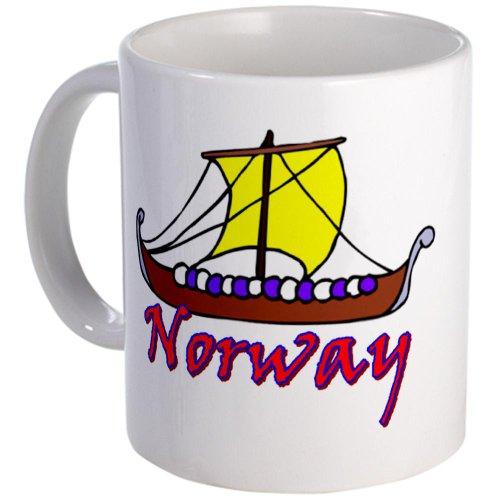 Cafepress Viking Longboat Design Mug - Standard