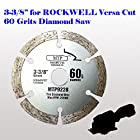 60 Grits 3-3/8-inch Diamond Circular Saw Blade for Rockwell Versacut Versa Cut Rk3440k , Makita 3-3/8 Cordless Sh01w 12v Tile Grout Concrete, Brick, Block, Masonry