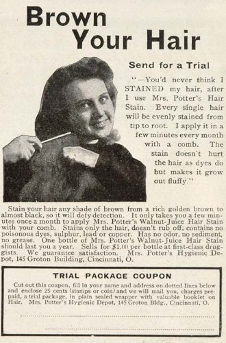 1906-ad-mrs-potters-walnut-juice-hair-stain-color-dye-original-print-ad
