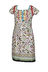 Indiatrendzs Women Kurti Cotton Floral Print Casual Tunic Chest: 36