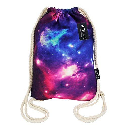 artone-galaxy-canvas-drawstring-bag-travel-daypack-sports-portable-backpack-ink-blue