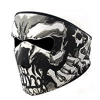 Graphic Style Skull Assassin Black Neoprene Adjustable 2 in 1 Reversible Full Face Mask Motorcycle Snowboard Ski by Neoprene Motorcycle Biker Full Face Mask