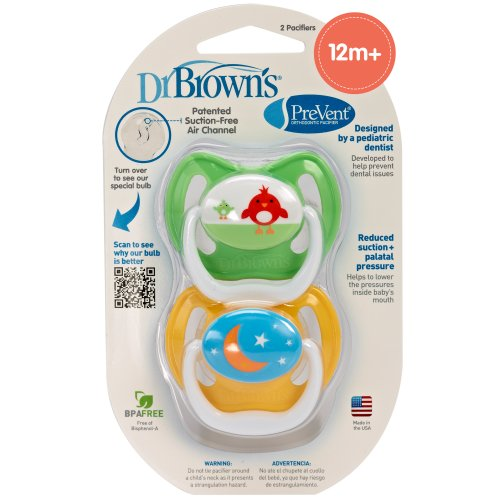 Dr. Brown'S Prevent Design Pacifier, Neutral, Stage 3, 12+ Months