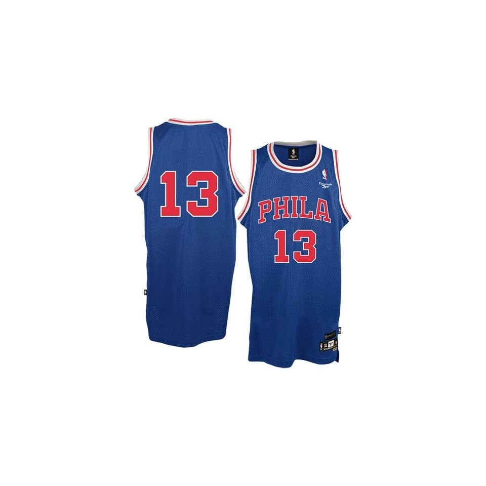 0cab77aa7bfc Reebok Philadelphia 76ers  13 Wilt Chamberlain Royal Blue Youth Soul Swingman  Jersey