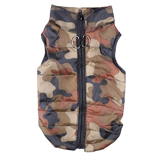 Yunt Pet Dog Coat Jacket Hundepullover Hundemantel wasserdicht Winterjacke,Regenmantel Hund Hundebekleidung Hundejacke Warm Wintermantel gepolstert(Camouflage,Medium) -