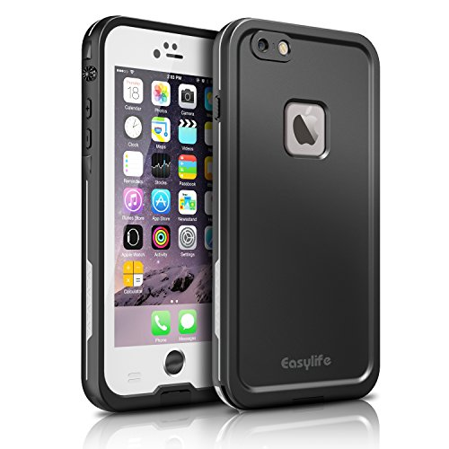Easylife iPhone6 ケース アイフォン6ケース 防水カバー 手帳型 耐衝撃 耐震 (iphone6, ホワイト)