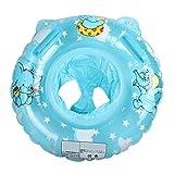 ANGELBUBBLESベビー用可愛い うきわ首リング  幼児安全 スイムリング 浮き輪 赤ちゃん用 (ブルー)