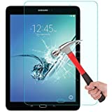Samsung Galaxy Tab S2 9.7 Glass Screen Protector, OMOTON Tempered-Glass Protector with [9H Hardness] [Crystal Clear] [Scratch-Resistant] [Bubble Free Easy Installation], Lifetime Warranty