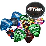 Tiger Medium Guitar Plectrums with Pick Tin (Pack of 12)