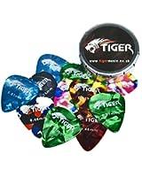 Tiger GAC14 12 Médiators pour Guitare avec boîte