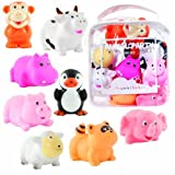 Elegant Baby 8 Piece Bath Squirties Gift Set in Vinyl Zip Bag, Animal Baby, NewBorn, Children, Kid, Infant