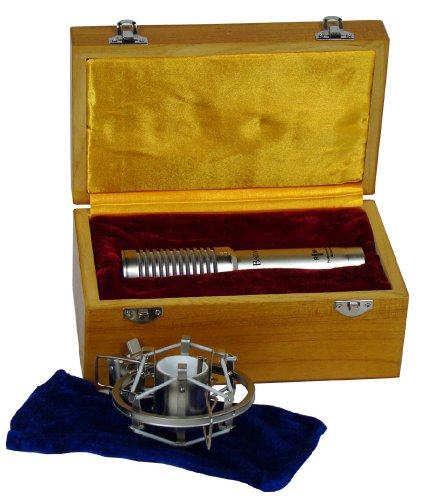Badaax Rm-10 Ribbon Microphone With Wooden Case And Shockmount