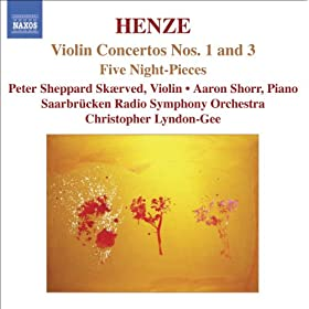 Henze: Violin Concertos Nos. 1 And 3 / 5 Night-Pieces
