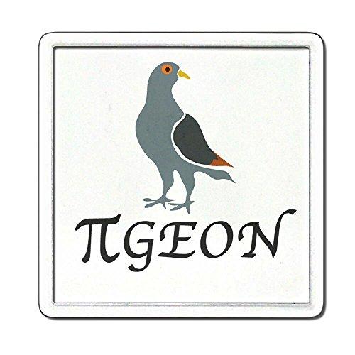 Pi Pigeon - Plastique transparent thé Coaster / Mat bière