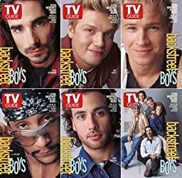 All Six Copies of The Backstreet Boys on the cover of these TV Guide dated May 26 - June 1, 2001