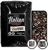 Italian Roast Espresso Coffee, Whole Bean, Fresh Roasted Coffee LLC (5 lb.)
