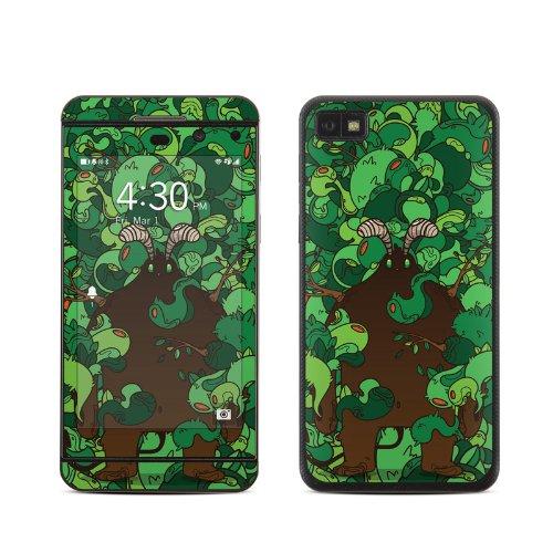 Forest Demon Design Protective Decal Skin Sticker (Matte Satin Coating) For Blackberry Z10 4G Cell Phone