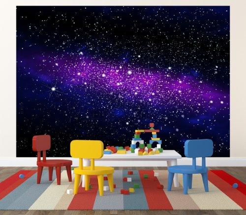 Decke Tapete Sternenhimmel : Galaxie Fototapete – Weltraum Wandbild – Sternenhimmel – XXL Wanddeko