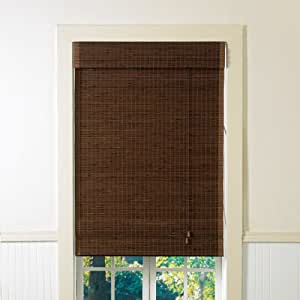 Lewis hyman 2000818 cyprus bamboo roman style window shade for Roman shades for wide windows