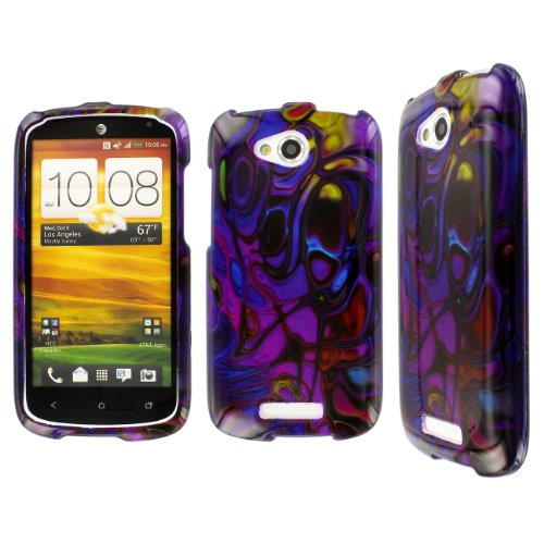 Click to buy HTC One VX Case, EMPIRE Full Coverage Color Bubble Purple Case for HTC One VX - From only $49.99