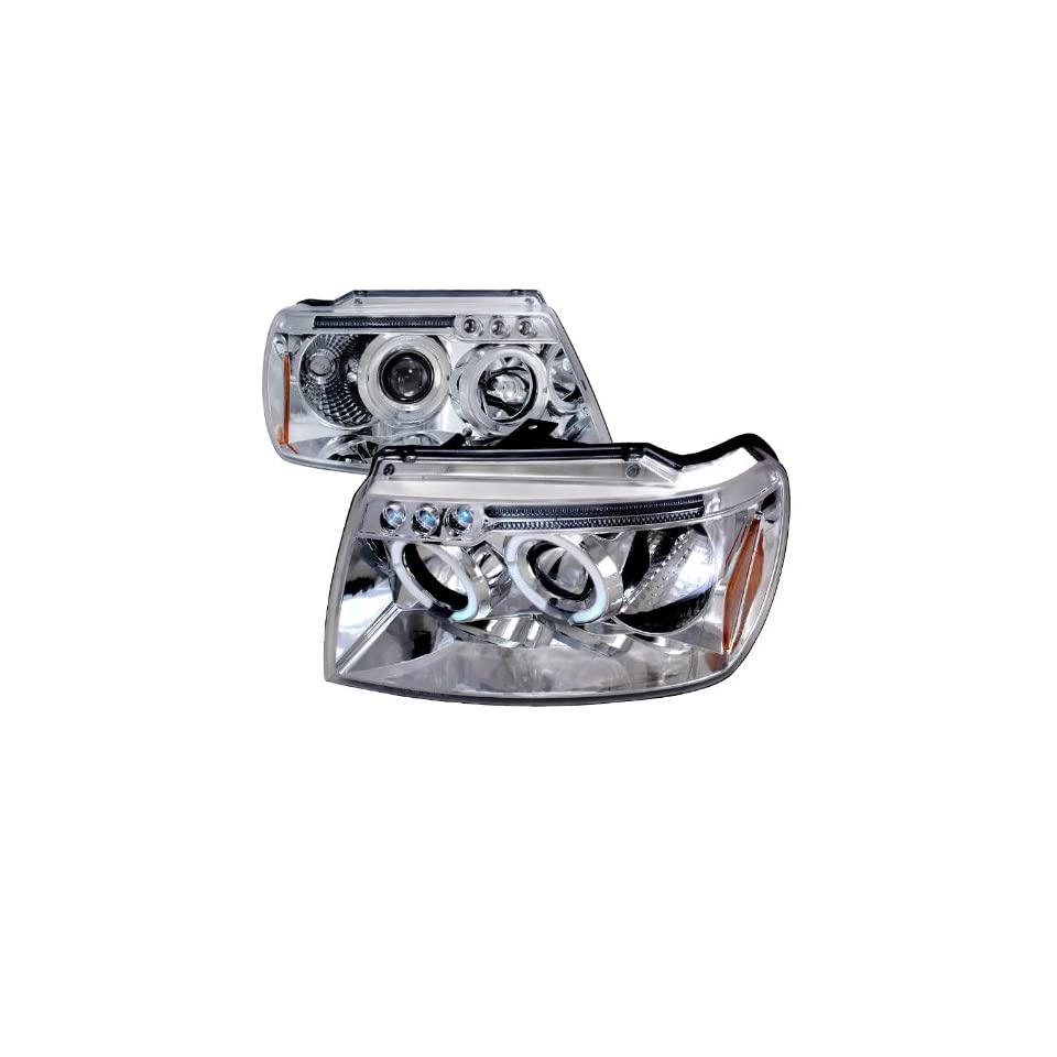 99 04 JEEP GRAND CHEROKEE CHROME CLEAR PROJECTOR HEAD