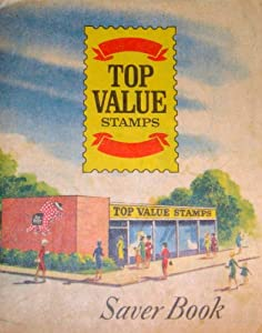 Vintage Saver Book for Top Value Stamps Dated 1966 (Almost Filled)