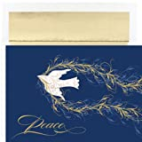 Peace Dove Flourish Holiday Cards
