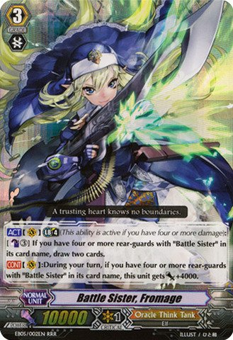 Cardfight!! Vanguard Tcg - Battle Sister, Fromage (Eb05/002En) - Extra Booster Pack 5: Celestial Valkyries front-1052300