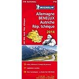 Carte Allemagne, Benelux, Autriche, République tchèque 2014 Michelin