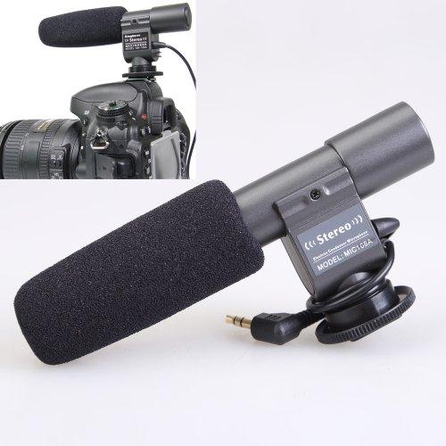 Vktech Mic-108 Stereo Directional Sensitivity Microphone For Camcorder Dslr