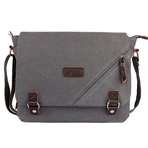 ibagbar-Canvas-Messenger-Bag-Shoulder-Bag-Laptop-Bag-Computer-Bag-Satchel-Bag-Bookbag-School-Bag-Working-Bag-for-Men-and-Women