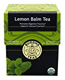 Lemon Balm Tea - Organic Herbs - 18 Sachets Bleach Free Tea Bags From Buddha Teas