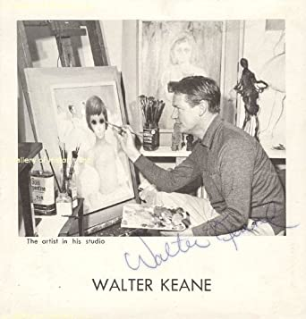Walter Keane autographed book cover