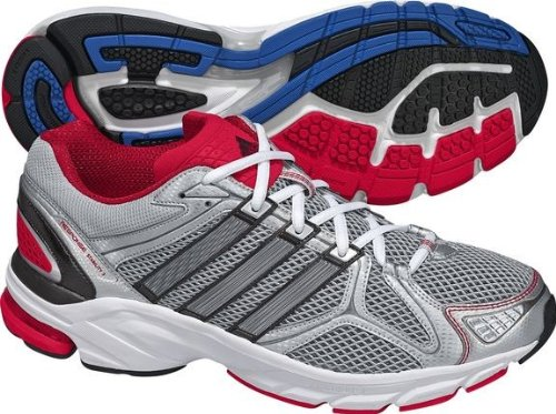 ADIDAS Response Stability 3 Men's Running Shoes, Silver/White/Red, UK14.5