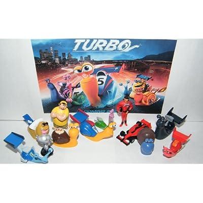 Amazon.com: Dreamworks Turbo Movie Deluxe Figure Toy Playset of 12