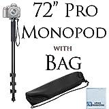 "Pro Series 72"" Monopod w/ Quick Release For Canon, Nikon, Sony, Samsung, Olympus, Fujifilm, Panasonic & Pentax + Microfiber Cloth"