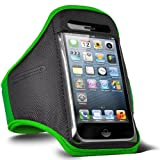 Direct-2-Your-Door - Apple Iphone 4S Sports Armband Strap Pouch Case Cover - Green