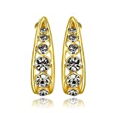 iSweven vintage 18k gold filled zircon bridal Latest Fashion Luxury Gold Dangle Earring for girls & Womens ( jewelry1174 )