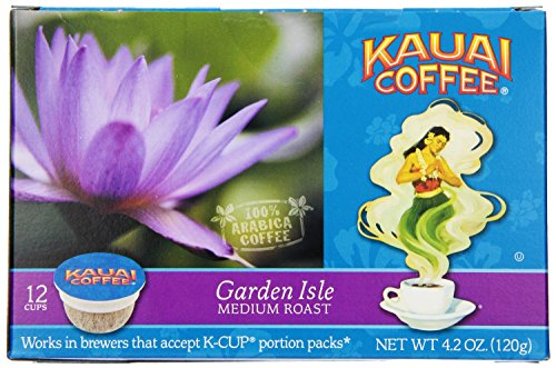 Kauai Coffee, K-Cup Single Serve, 12 Count, 4.2Oz Box (Pack Of 3) (Garden Isle Medium Roast)