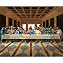 Black Last Supper Art Print Poster religious Jesus GOD - 16x20